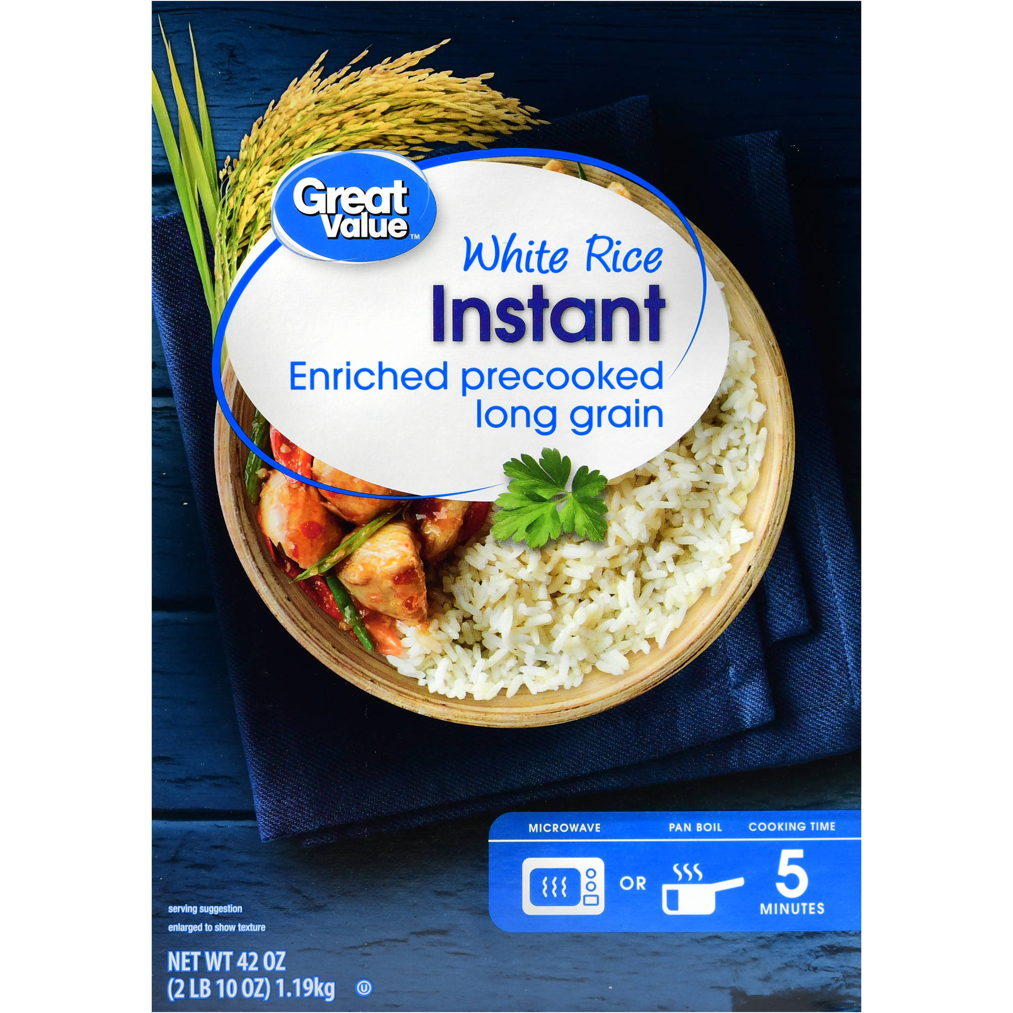 2 pack great value instant white rice 42 oz walmart com