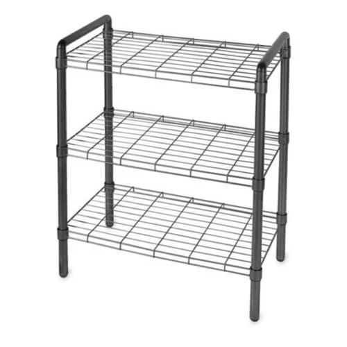art of storage 3 tier wire shelving storage rack black