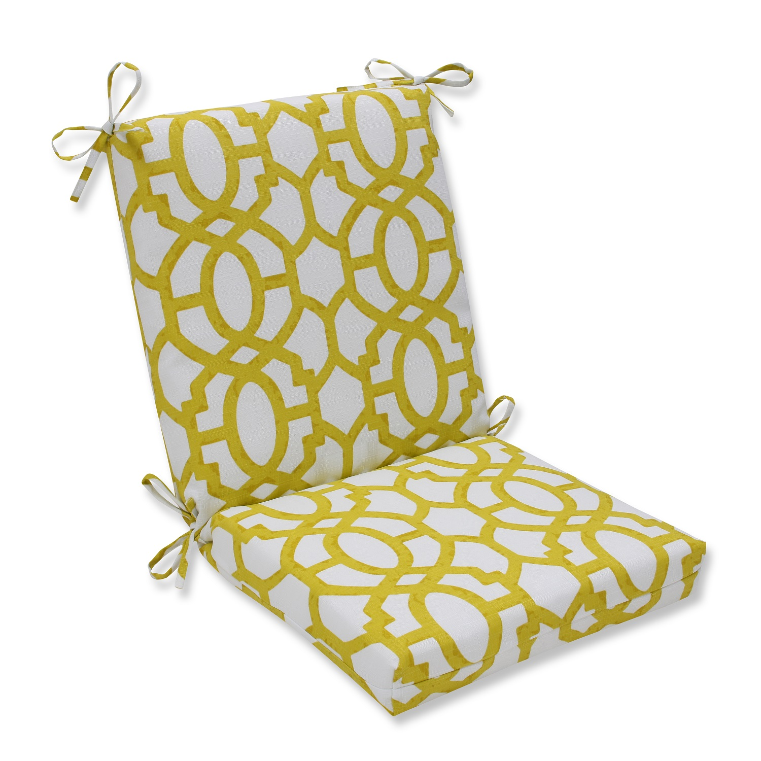 36 5 white and yellow outdoor patio chair cushion walmart com