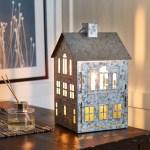 Better Homes Gardens Galvanized House Candle Holder Lantern Walmart Com Walmart Com