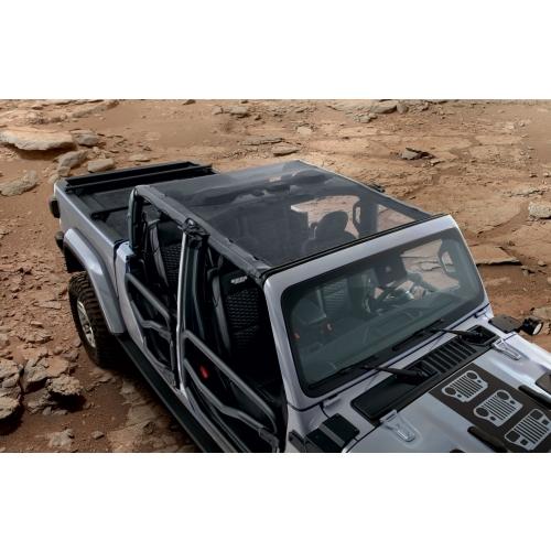 mopar 82215621 mesh sun bonnet top jeep gladiator