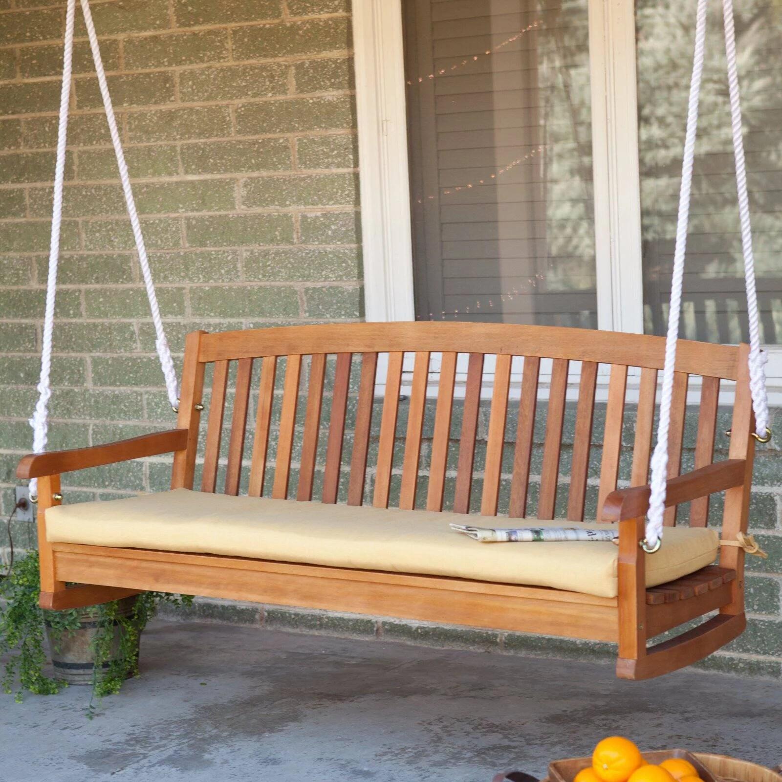 blazing needles 57 x 19 in outdoor standard patio bench cushion walmart com