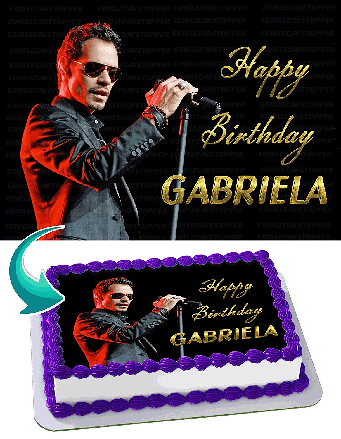 Marc Anthony Edible Cake Image Topper Personalized Birthday Party 1 4 Sheet 8 X10 5 Walmart Com Walmart Com