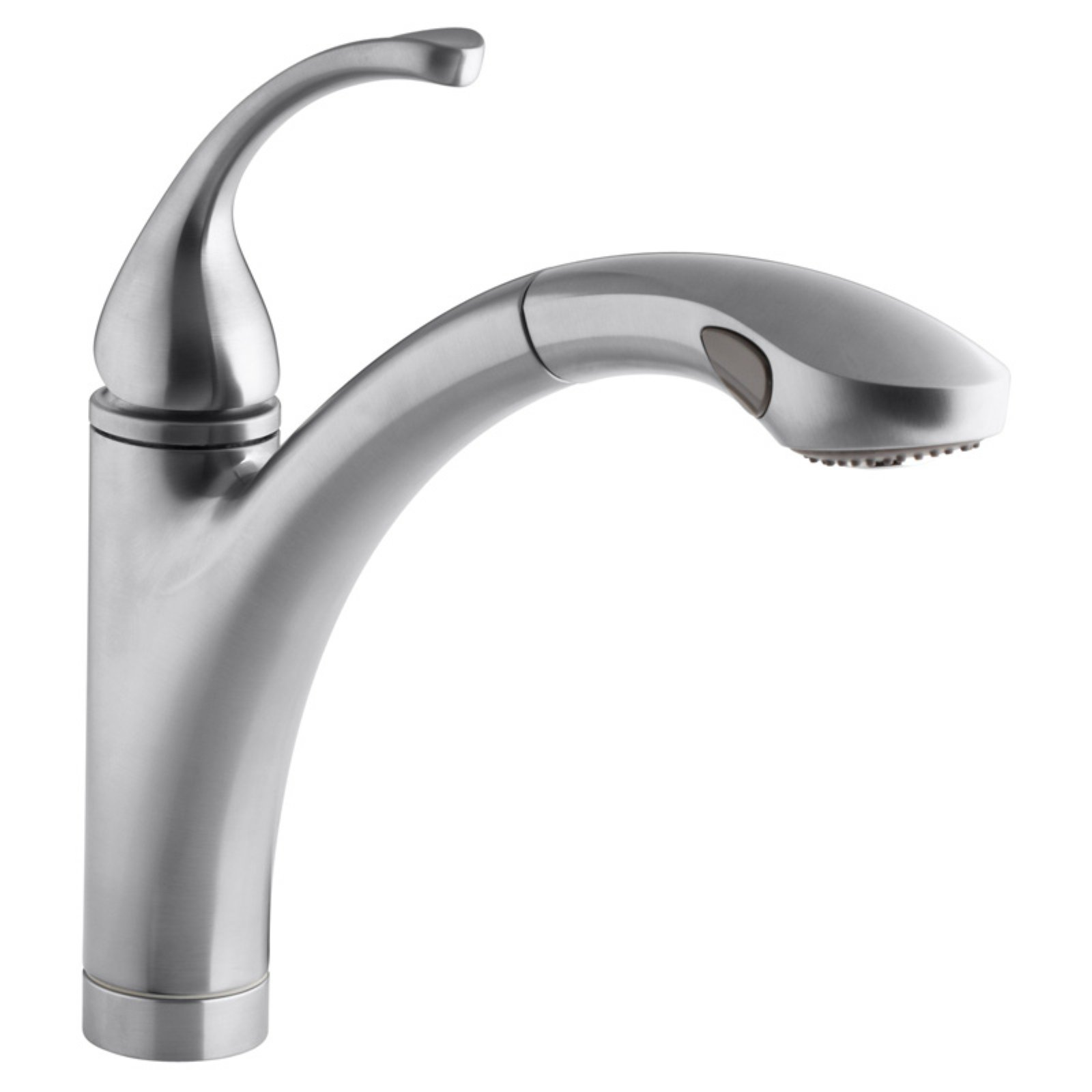 kohler forte k10433 single handle pull out kitchen sink faucet