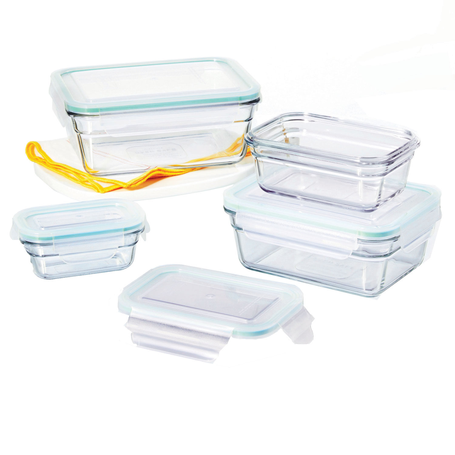 glasslock oven and microwave safe glass food storage containers 8 piece set walmart com