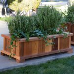 Wood Country Rectangle Cedar Wood Boise Patio Planter Box Walmart Com Walmart Com