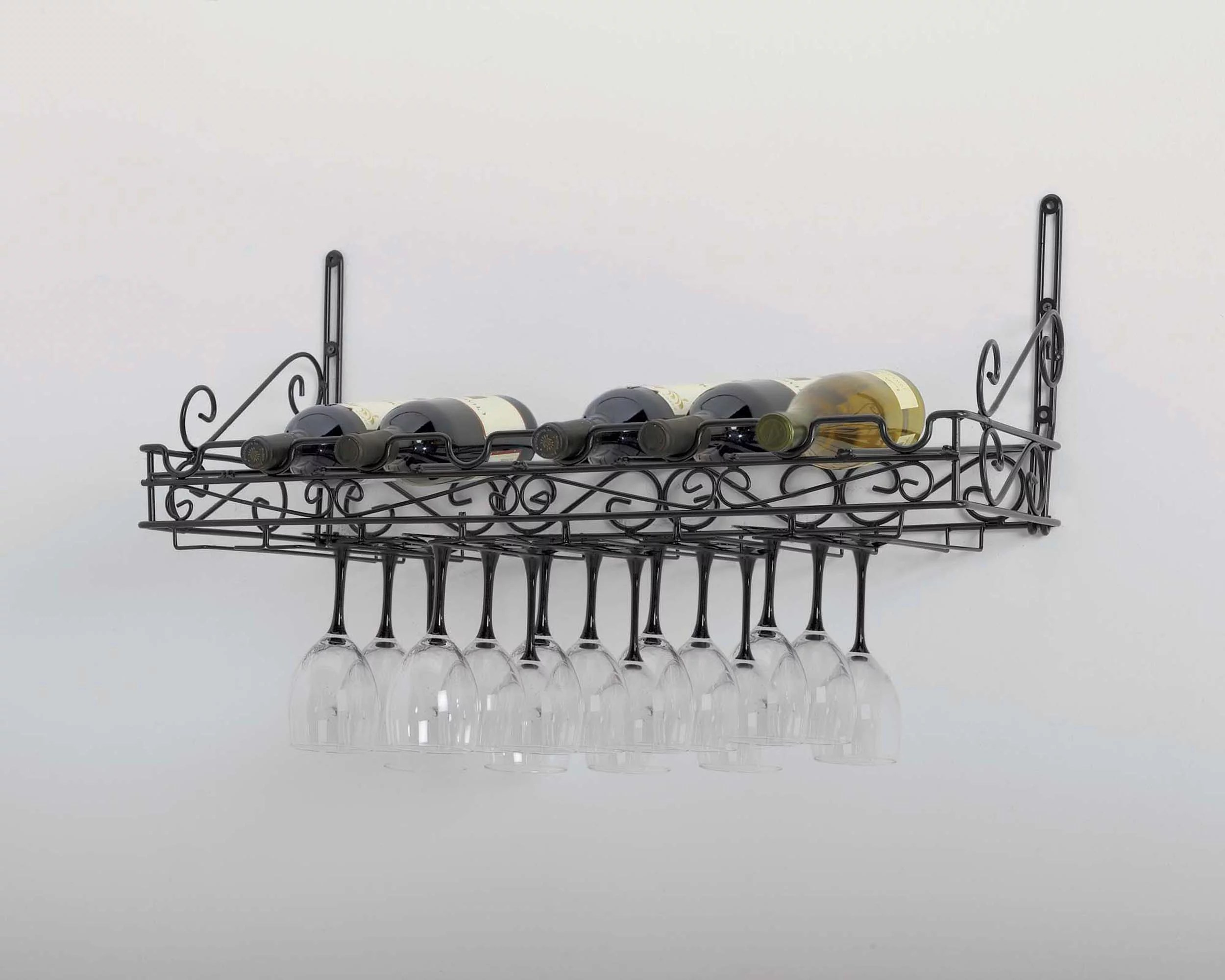 metal wine glass wall rack