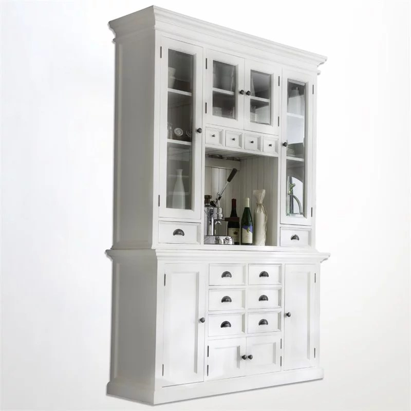 beaumont lane china cabinet in pure white