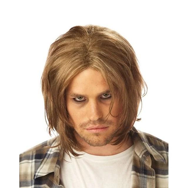 kurt cobain wig nirvana grunge adult mens costume hair 90's