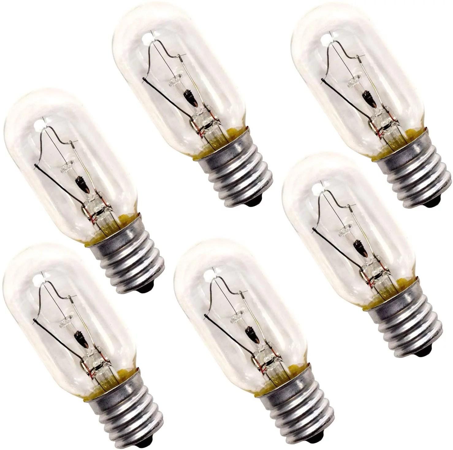 hqrp 6 pack 40 watt t8 intermediate e17 base incandescent light bulbs compatible with appliance microwave oven refrigerator kitchen vent hood range