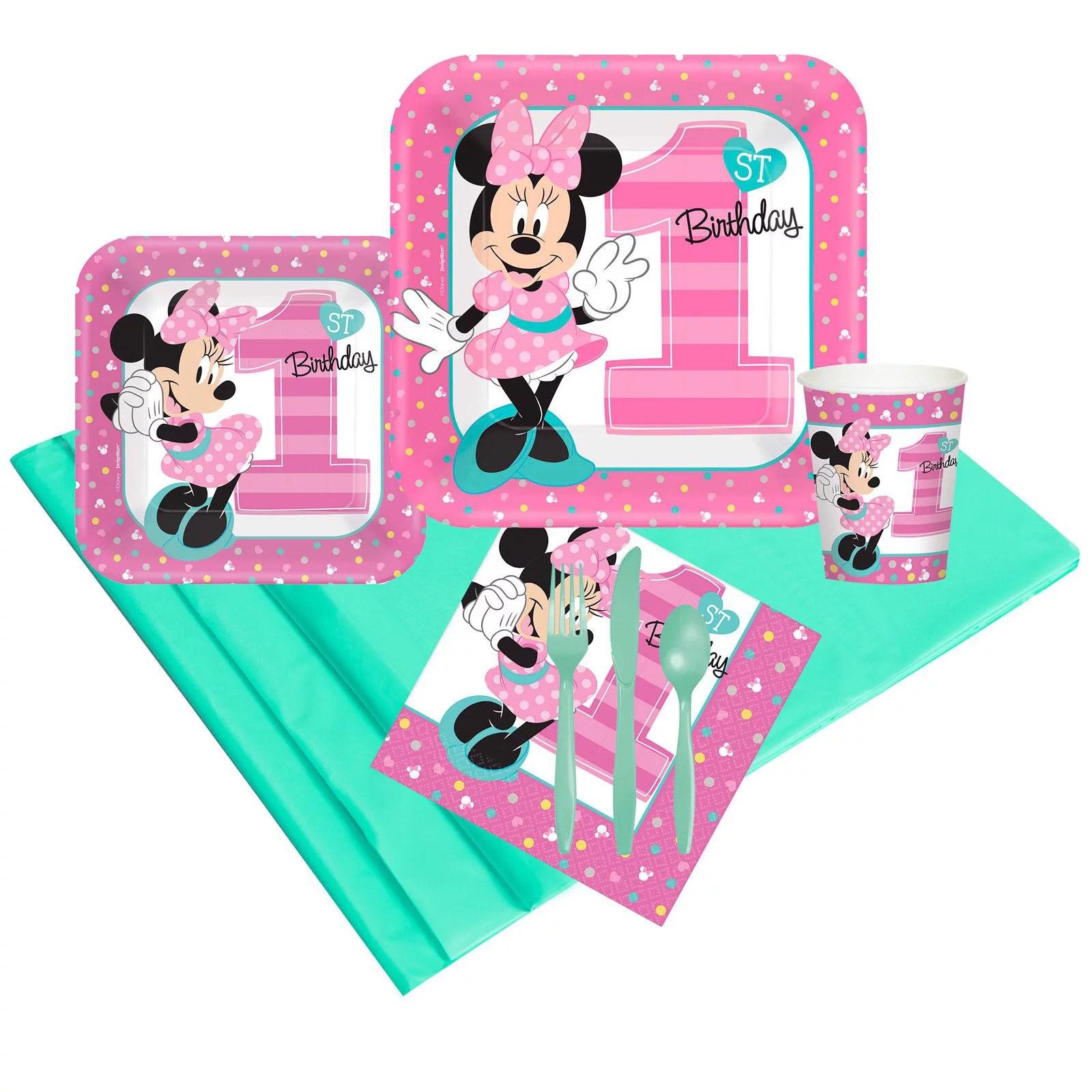 Disney Minnie Mouse 1st Birthday Party Pack 24 Walmart Com Walmart Com