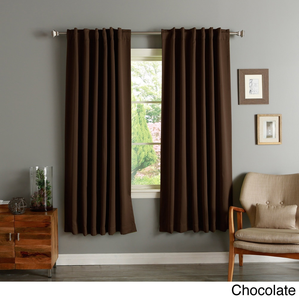 aurora home insulated 72 inch thermal blackout curtain panel pair walmart com