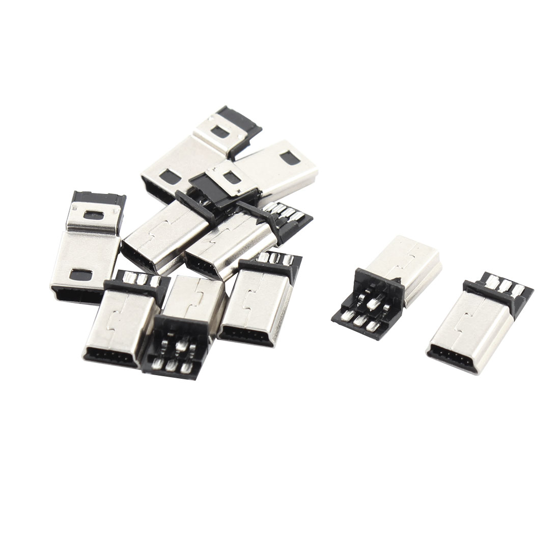 10 Pcs Usb 5 Pin B Male Connector Port Solder Plug Replacement