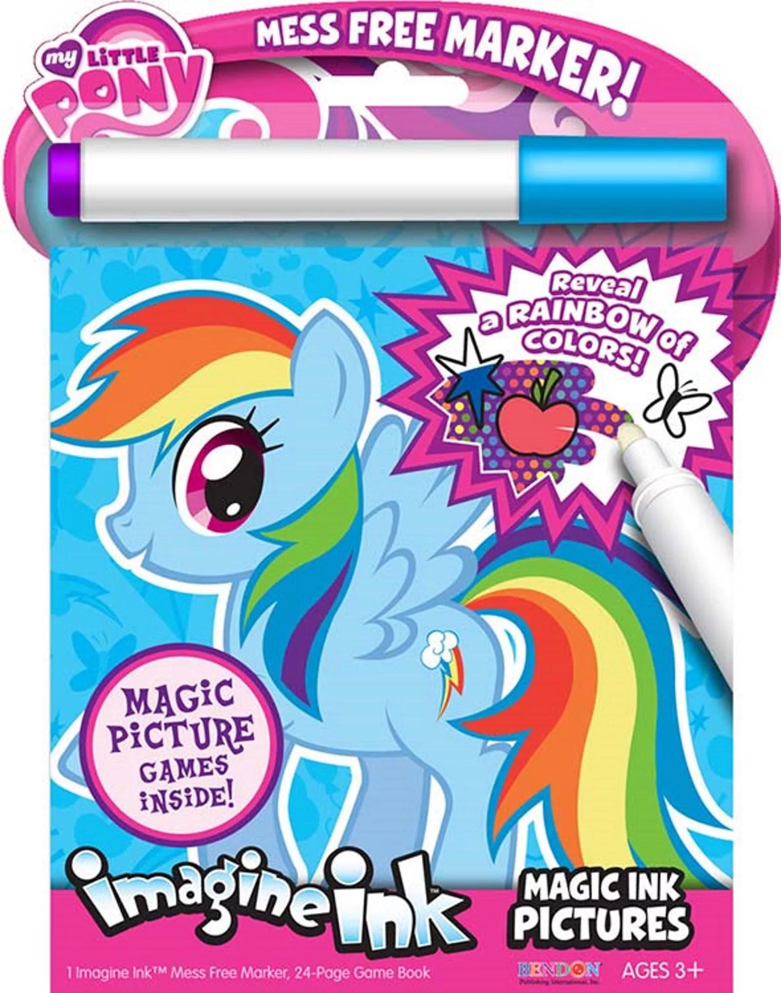 My Little Pony 24 Page Imagine Ink Magic Pictures Activity Book Walmart Com Walmart Com