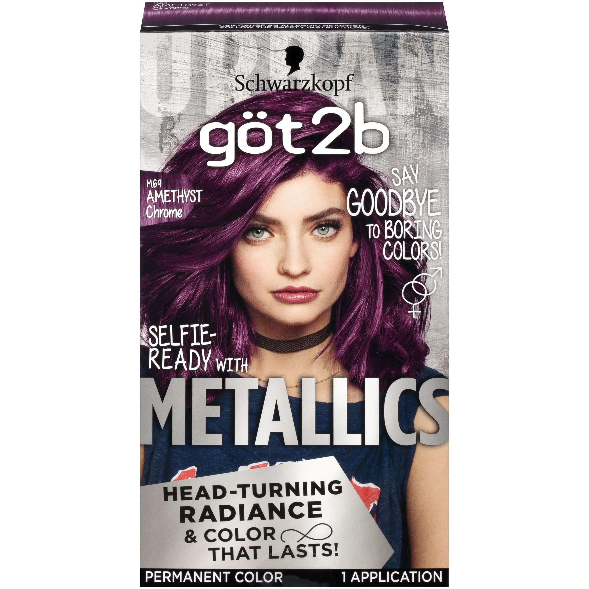 Got2b Metallic Permanent Hair Color M69 Amethyst Chrome