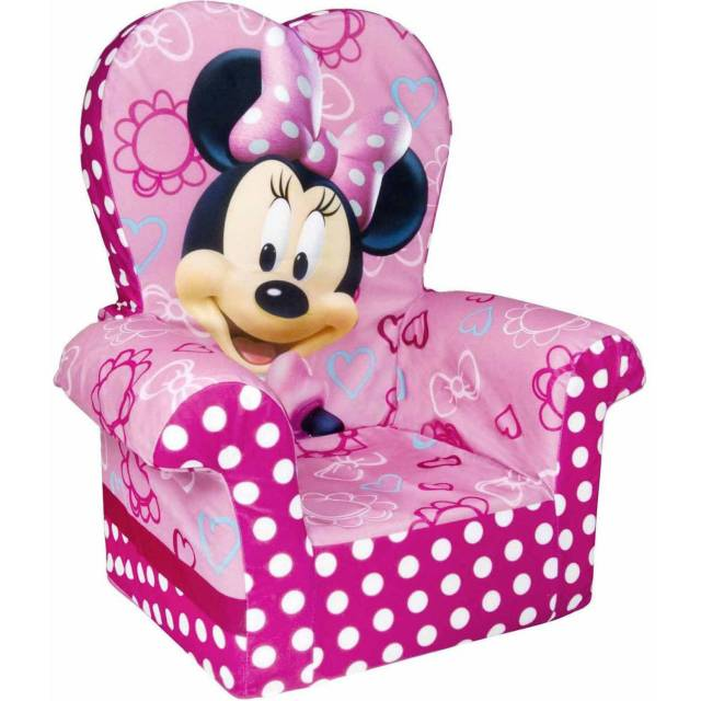 Marshmallow High Back Chair Minnie Mouse s Bow Tique Walmart