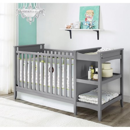 Baby Relax Emma 2 In 1 Crib N Changer Combo Gray