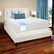 Select Luxury 14 Inch Full Size Medium Firm Gel Memory Foam Mattress And Foundation Set