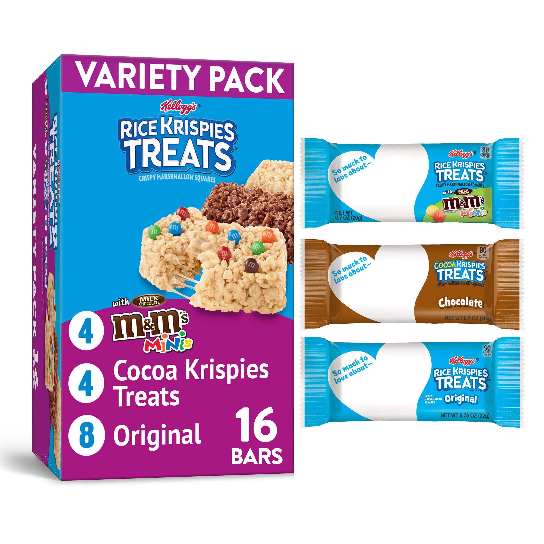 Rice Krispies Treats Marshmallow Snack Bars Variety Pack Kids Snacks School Lunch 12 4oz Box 16 Bars Walmart Com Walmart Com