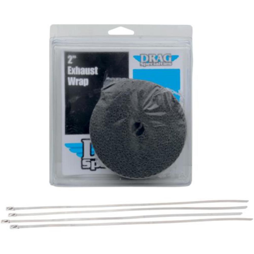 drag specialties 1861 0669 exhaust heat wrap kit 2in black