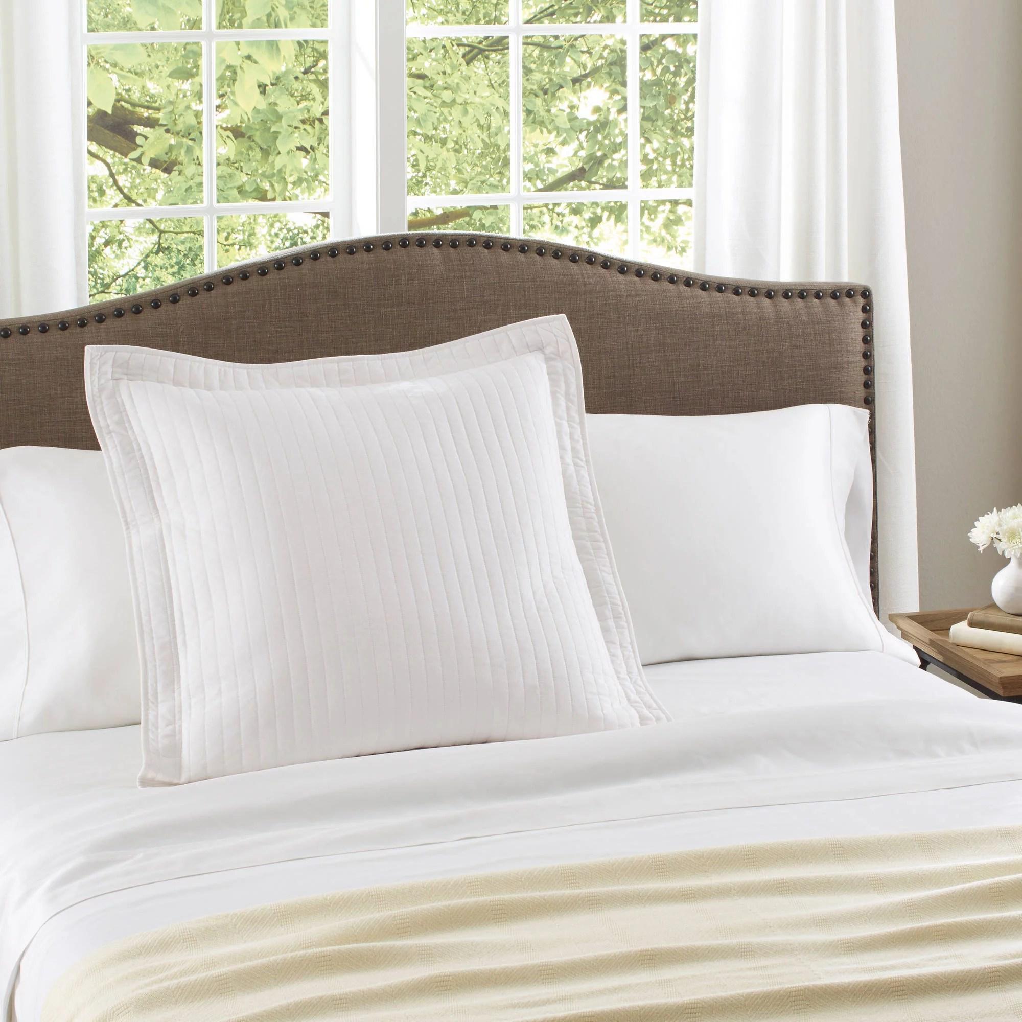 better homes gardens cotton arctic white euro sham