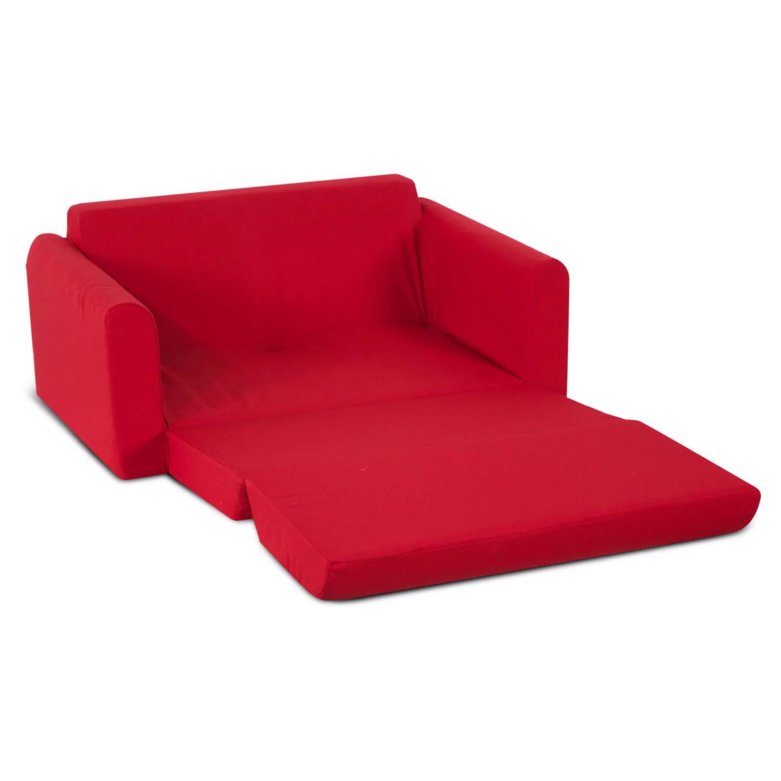 kids sofa sleeper red
