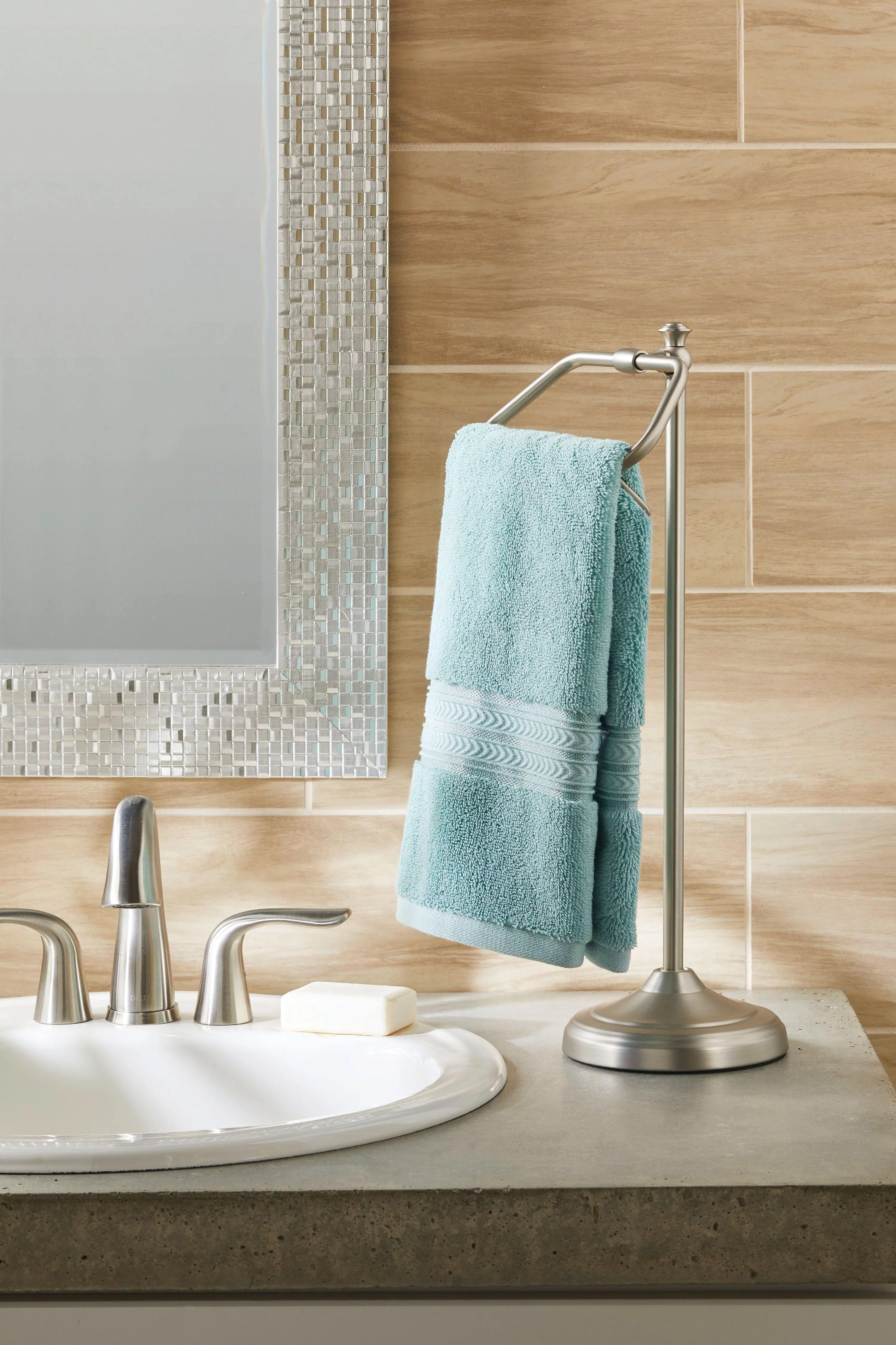 better homes garden hand towel holder satin nickel walmart com