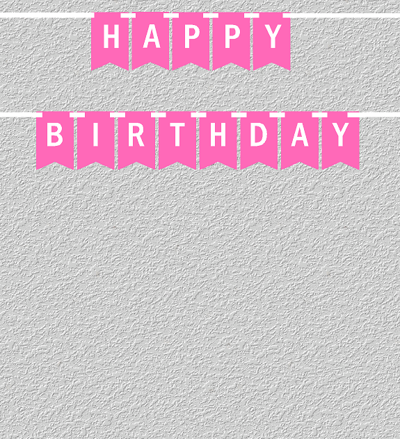 Hot Pink And White Happy Birthday Bunting Letter Banner Walmart Com Walmart Com