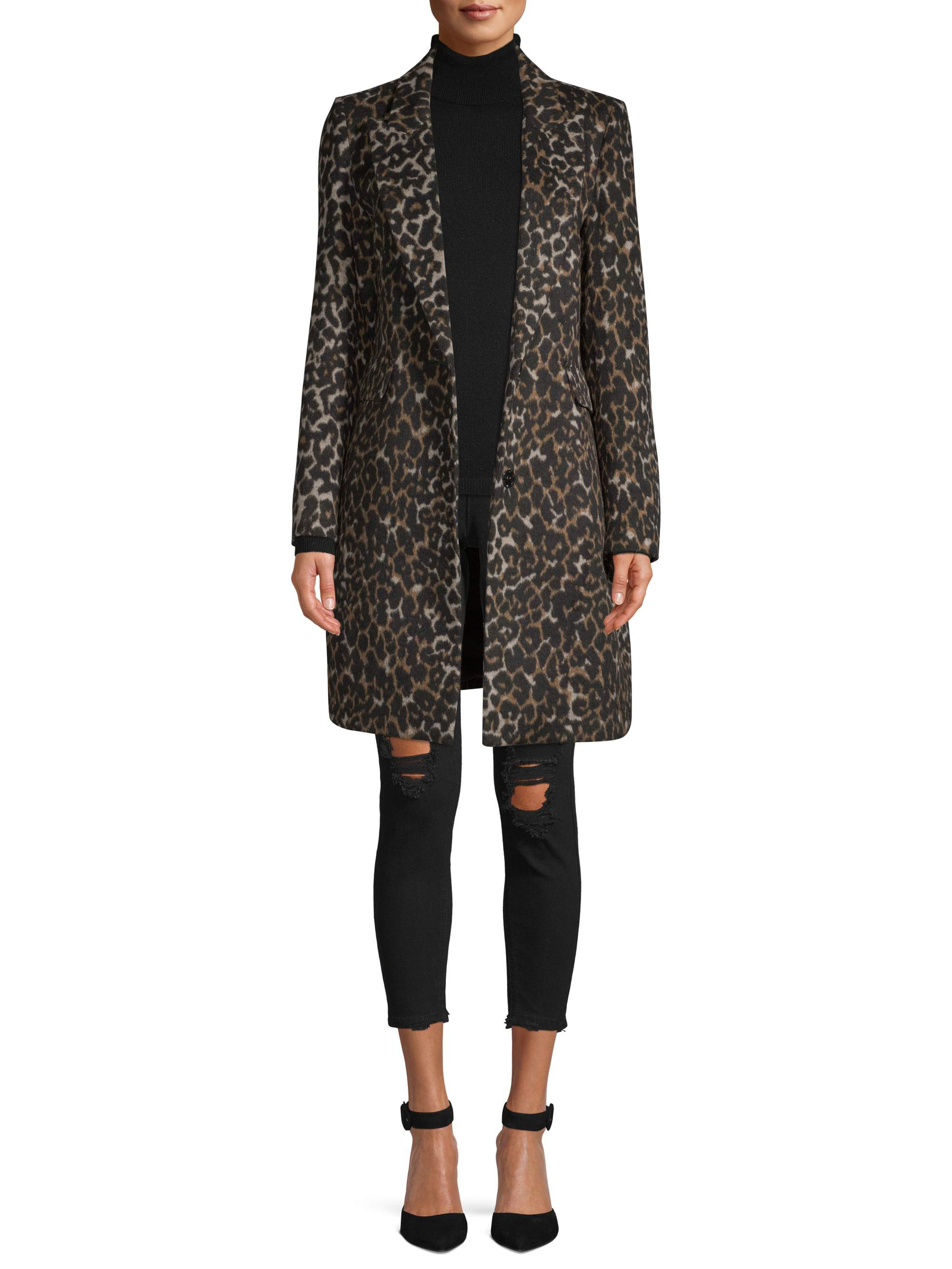 Kendall + Kylie Women's Printed Coat