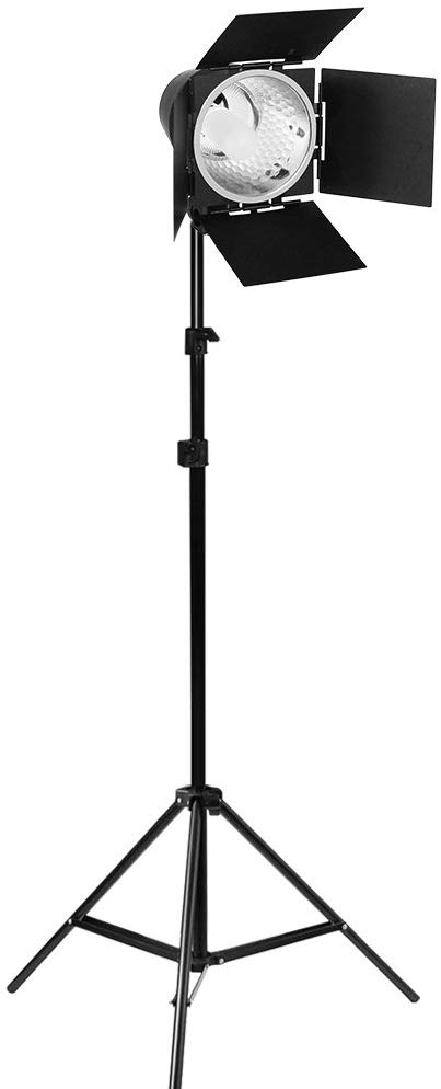 ls photography 50 moving clearance sale continuous photography studio barn door light 86 inch adjustable light stand and 150w jdd light bulb