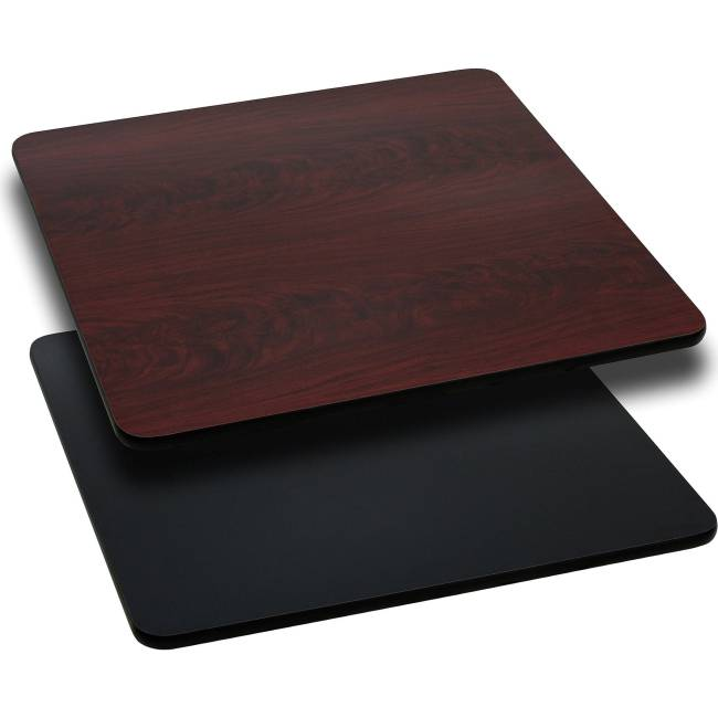 """Flash Furniture 30"""" Square Table Top with Reversible Laminate Top, Multiple Colors"""