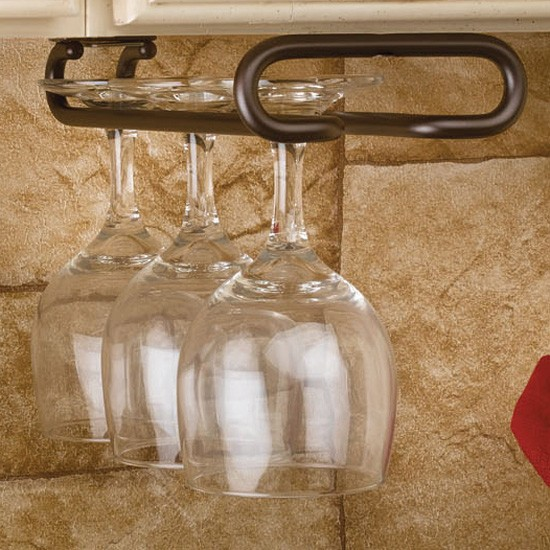 rev a shelf 11 oil rubbed bronze under cabinet wine glass holder