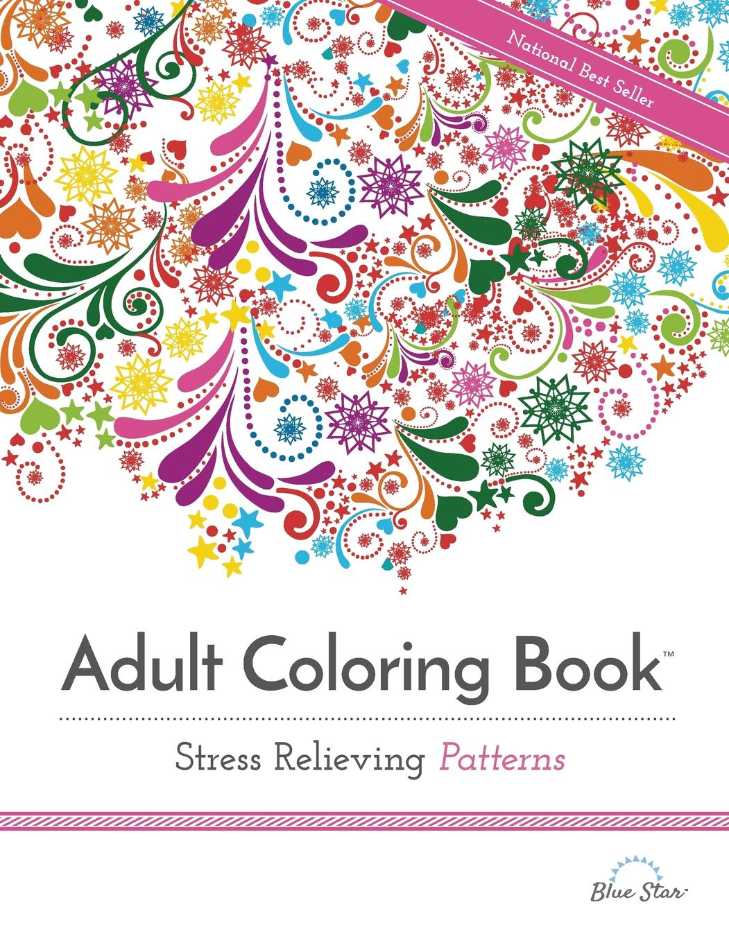 adult coloring book stress relieving patterns (paperback)