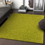 Solid Retro Modern Green Shag 5x7 5 X 7 2 Area Rug