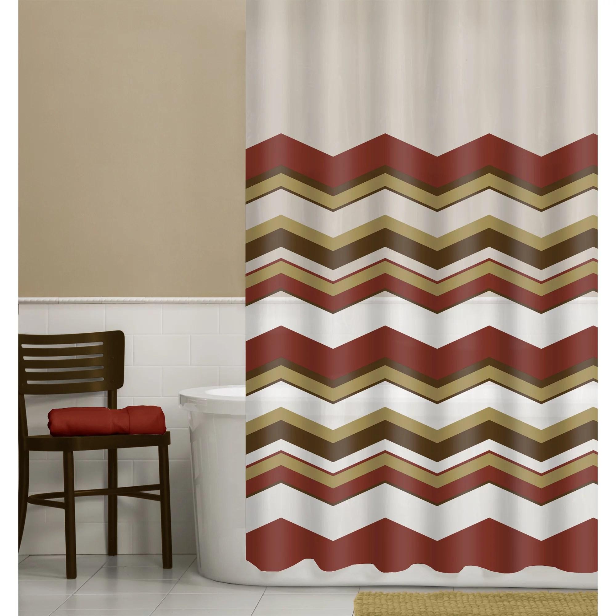ex cell home fashions mosaic fabric shower curtain terra cotta