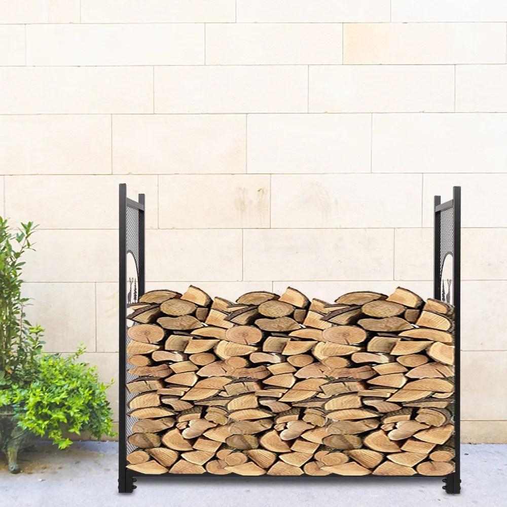 indoor firewood rack holder 50 metal fireplace logs racks outdoor fire pit burning wood rack stand firewood storage rack for patio backyard wood
