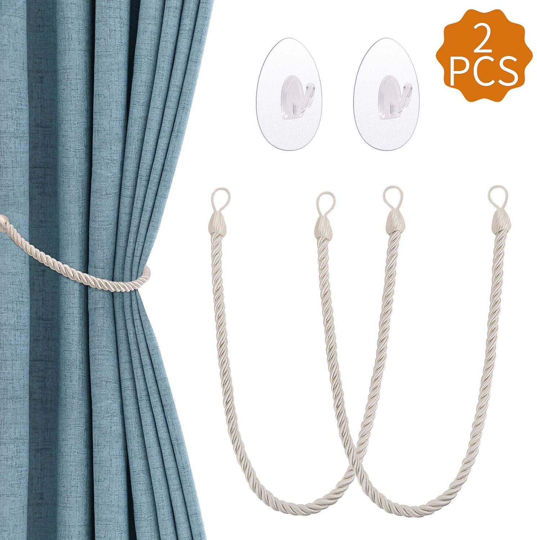 curtain tiebacks with transparent self adhesive hooks curtain holders window curtain rope holdbacks curtain bracelets for home office bedroom living