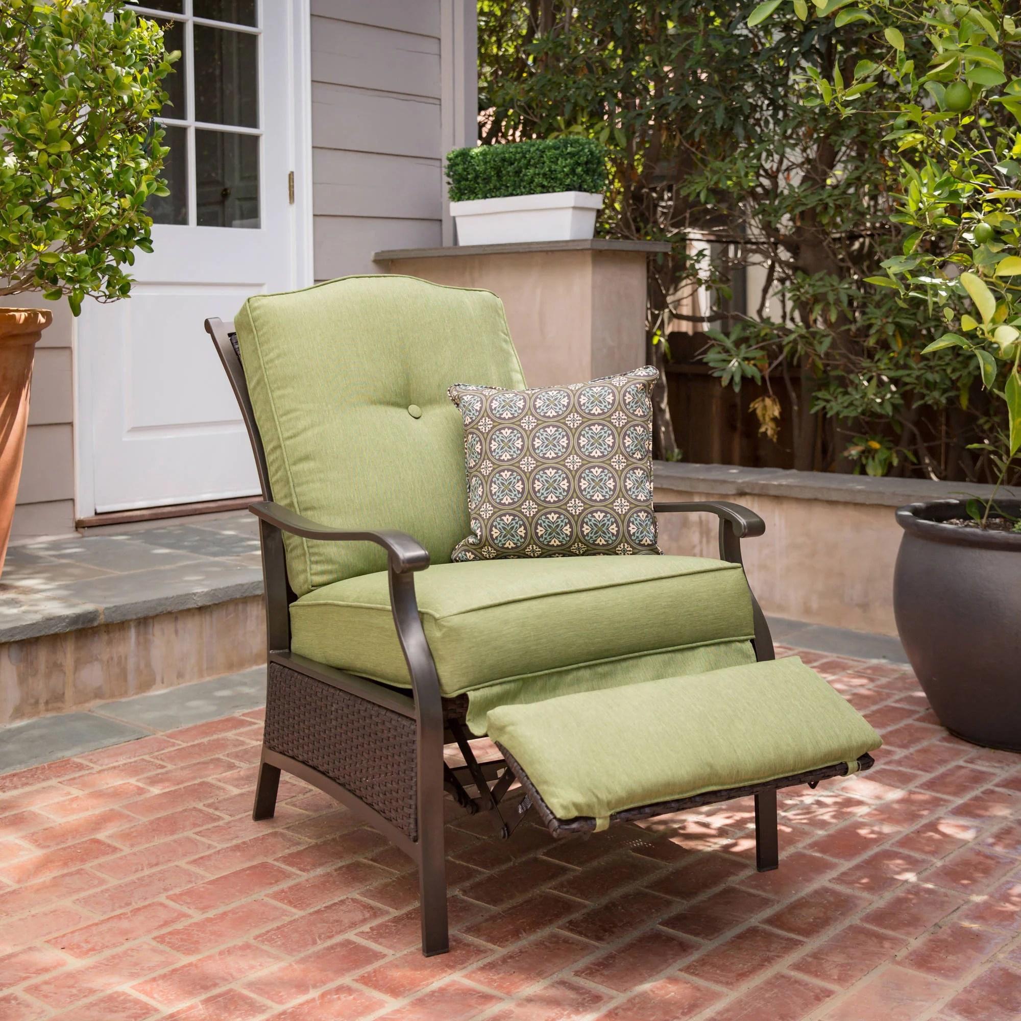 better homes and gardens providence outdoor recliner green walmart com