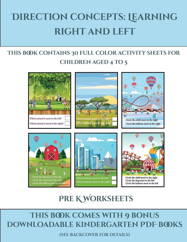 Pre K Worksheets Pre K Worksheets Direction Concepts