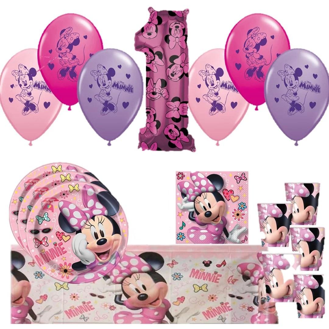 Minnie Mouse 1st Birthday Mega Kit For 16 Guests Walmart Com Walmart Com