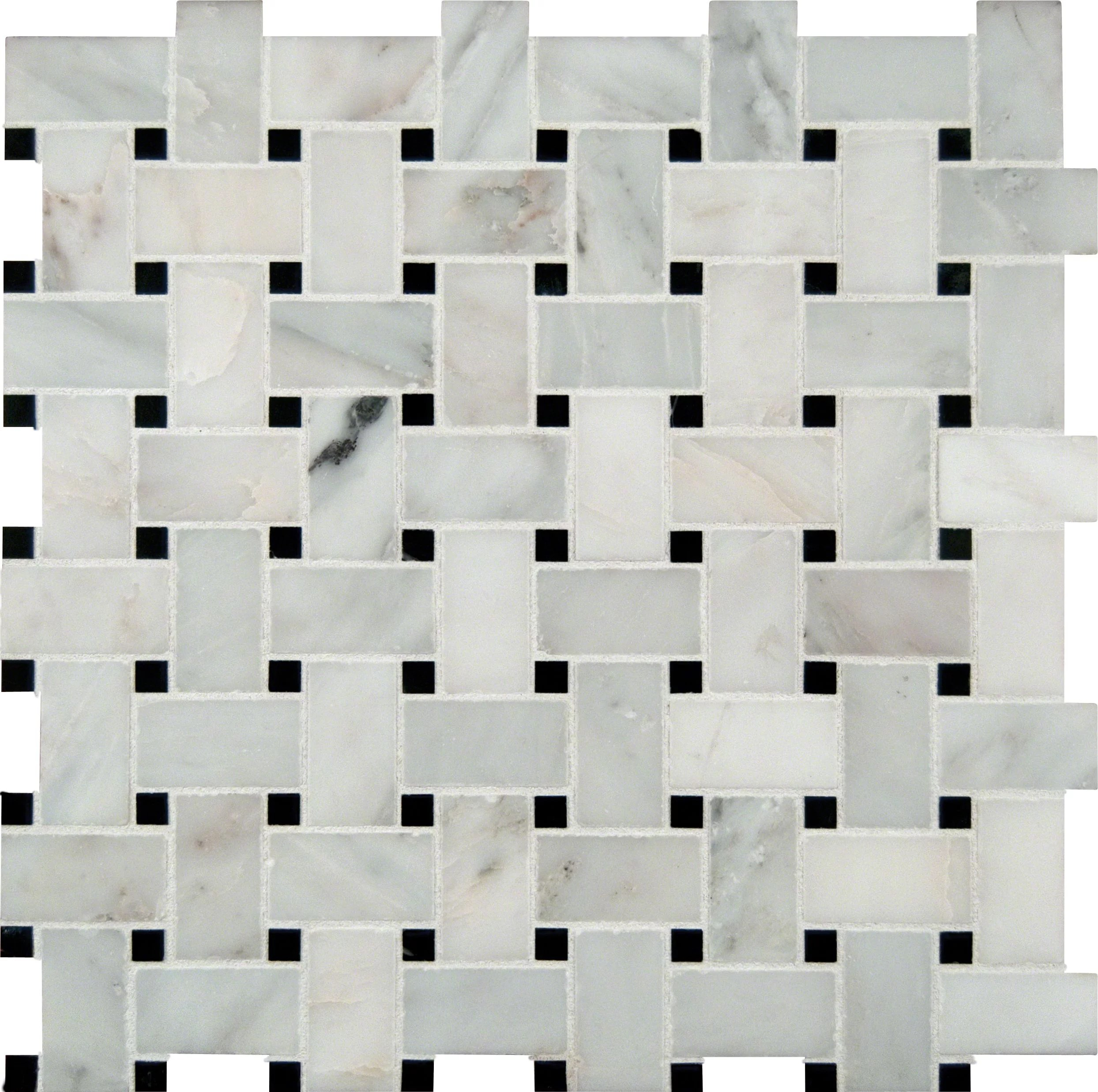 greecian white basketweave 12 in x 12 in x 10mm polished marble mesh mounted mosaic tile 10 sq ft case walmart com