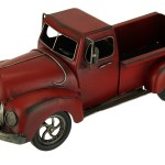 Hand Painted Vintage Red Pickup Truck Metal Statue Walmart Canada
