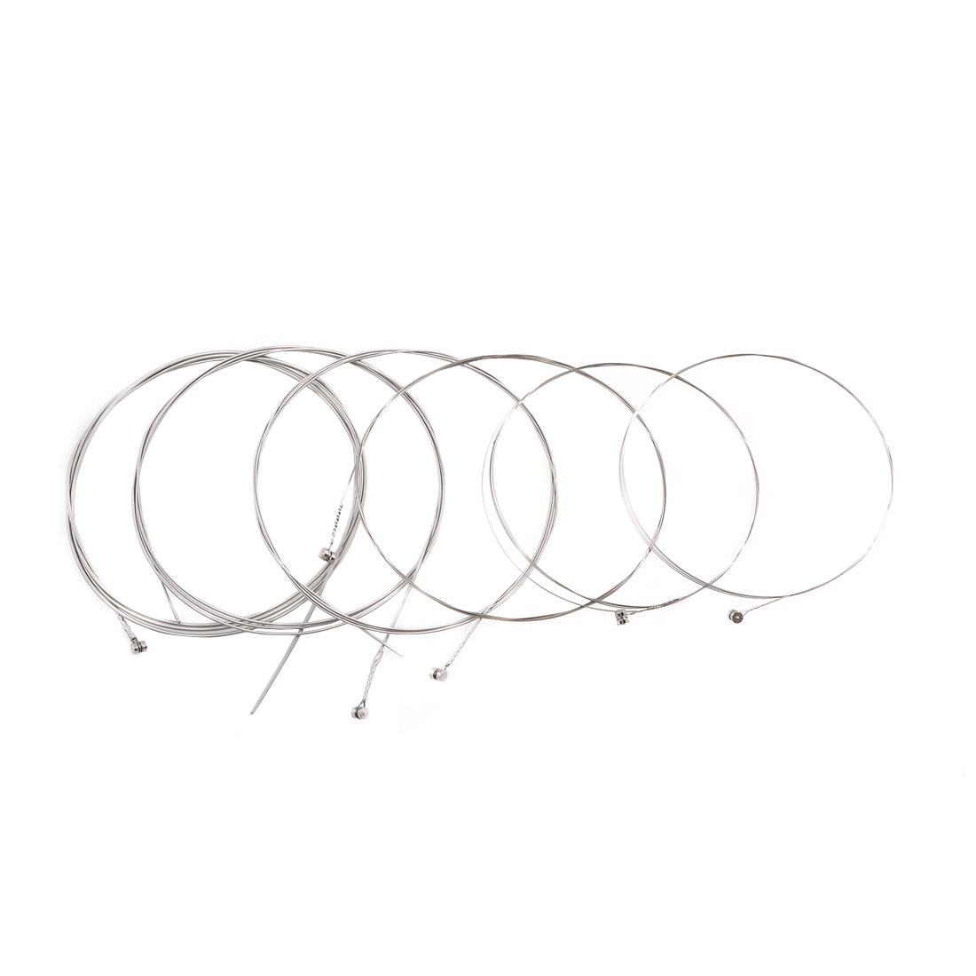 6 Pcs Silver Tone Steel Wire Electric Guitar String