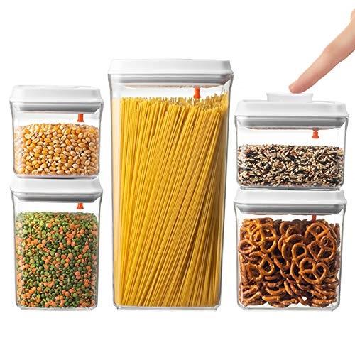 Brever 5 Pc Airtight Push Pop Food Storage Container Set Value