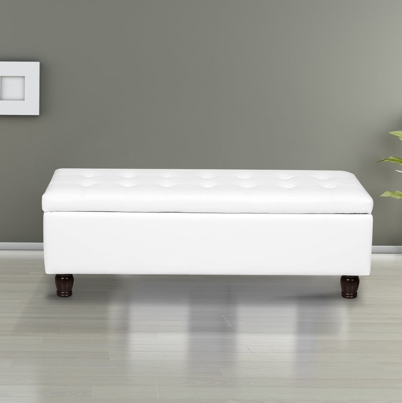 us pride furniture volume button tufted bonded leather storage ottoman bench cream white