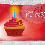 21st Birthday Decorations Tapestry Abstract Sun Beams Backdrop Party Cupcake With Frosting Image Wall Hanging For Bedroom Living Room Dorm Decor 80w X 60l Inches Red And Orange By Ambesonne Walmart Com