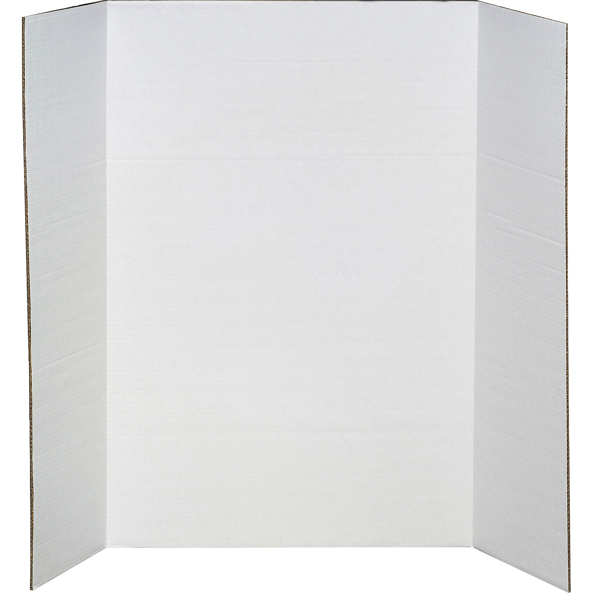 elmer s heavy duty corrugated tri fold display board 36 x 48 white walmart com