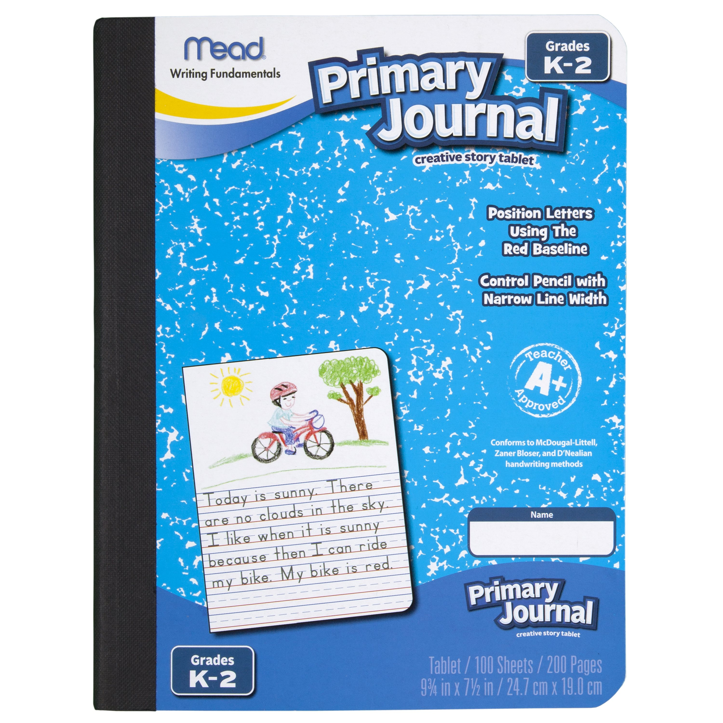 Mead Primary Journal, Half Page Ruled, Grades K-2, 100 Sheets, 7 1/2″ x 9 1/2″ (09535)