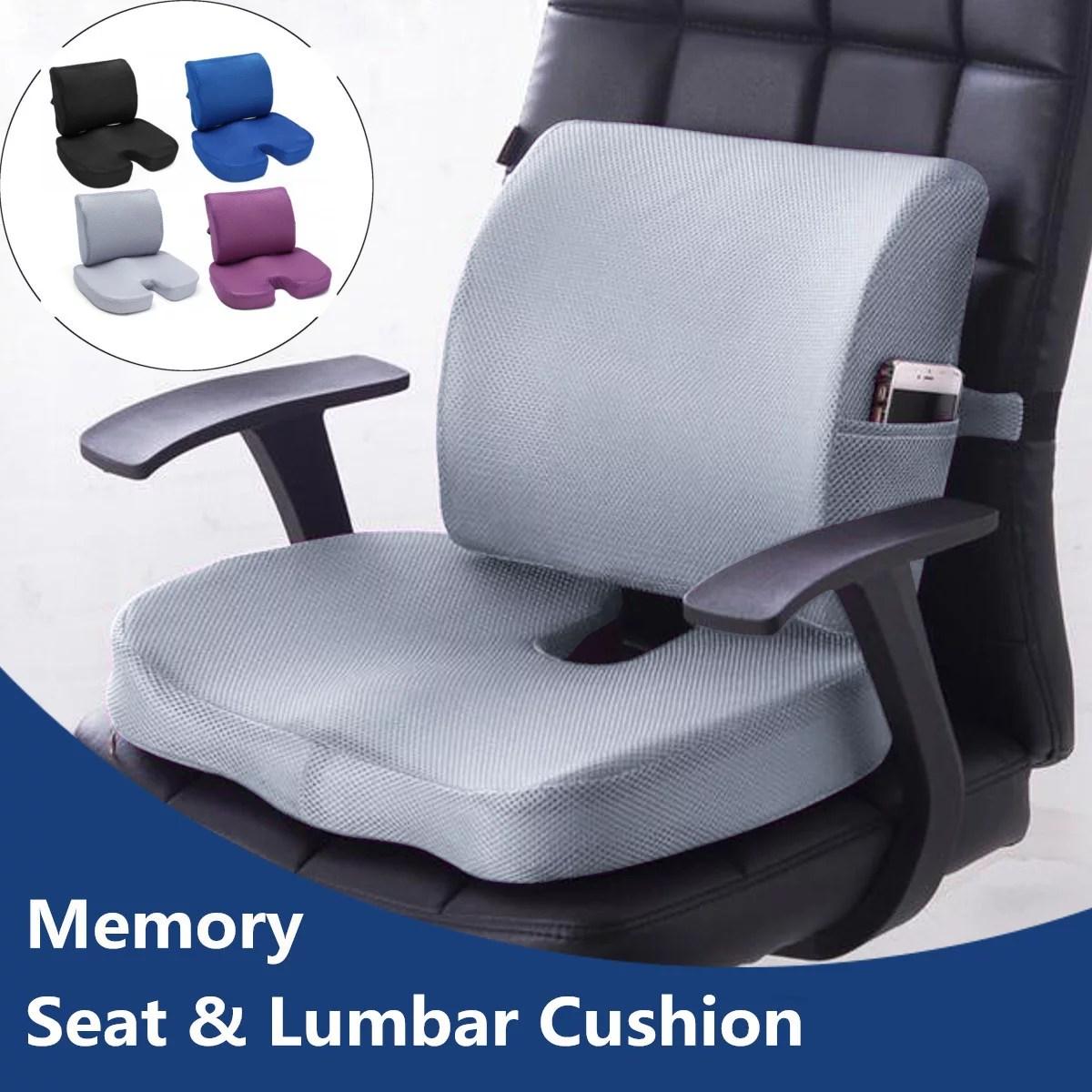 seat cushion for office memory foam car seat cushion mesh lumbar support pillow orthopedic seat cushion chair lumbar support back pillow for