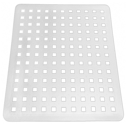 interdesign euro kitchen sink protector mat large clear
